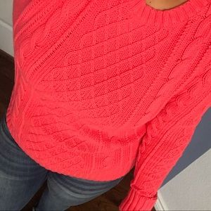 Fitted cable knit sweater Sz M